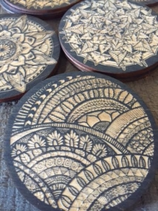 Marijuana Inspired Wooden Patterned Coasters