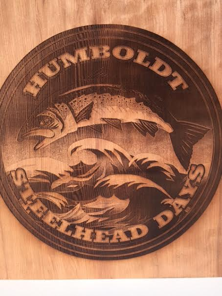 WoodLab Designs Flatmo Collaboration Steelhead Days Laser Etched Sign
