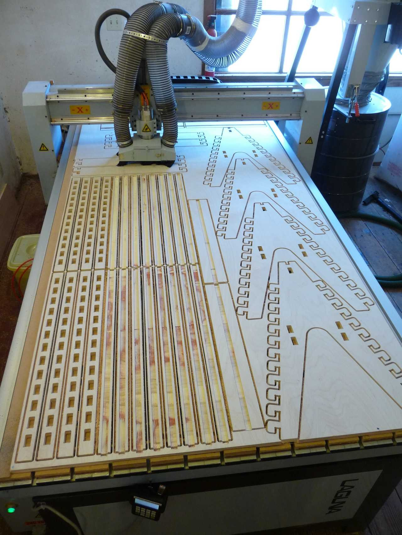 CNC Routed Wooden Components