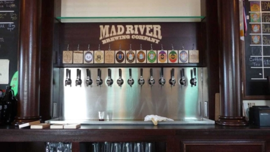 WoodLab Designs Installed Brewery Backsplash signage