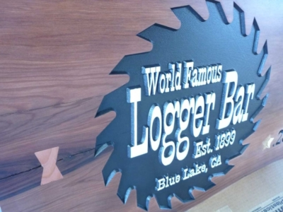 WoodLab Designs Logger Bar Wood Signage