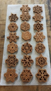 WoodLab Designs Laser Etched Wooden Winter Ornaments