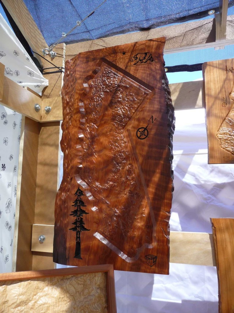 Live Edge Redwood Wall Mounted Artwork