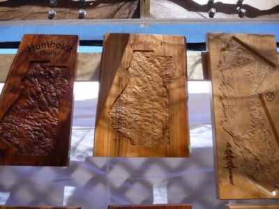 Various Wood Species Topographical Wall Art