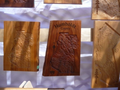 Northern California Wooden Topographical Wall Art