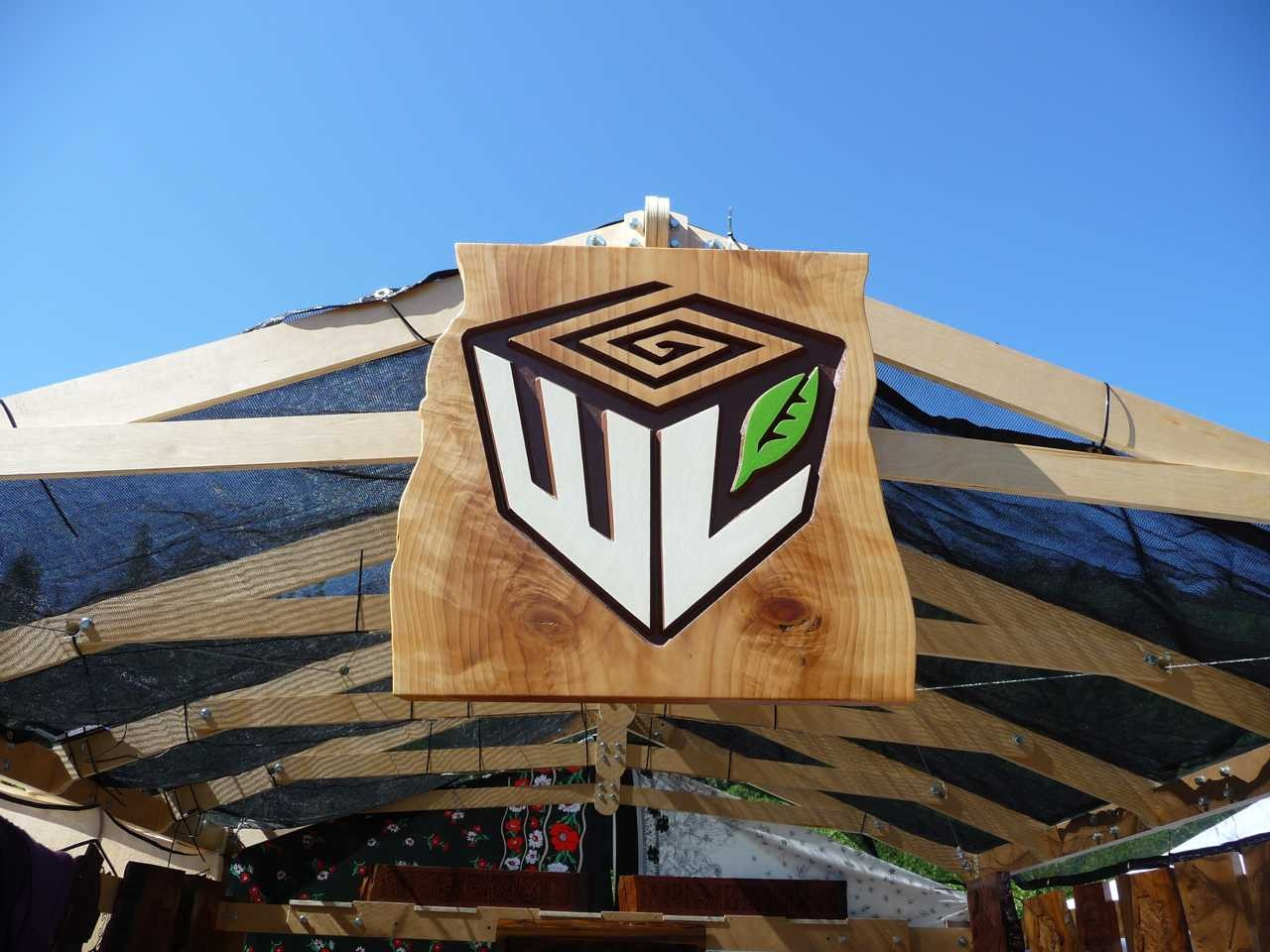 Craft Fair Wooden Logo Signage