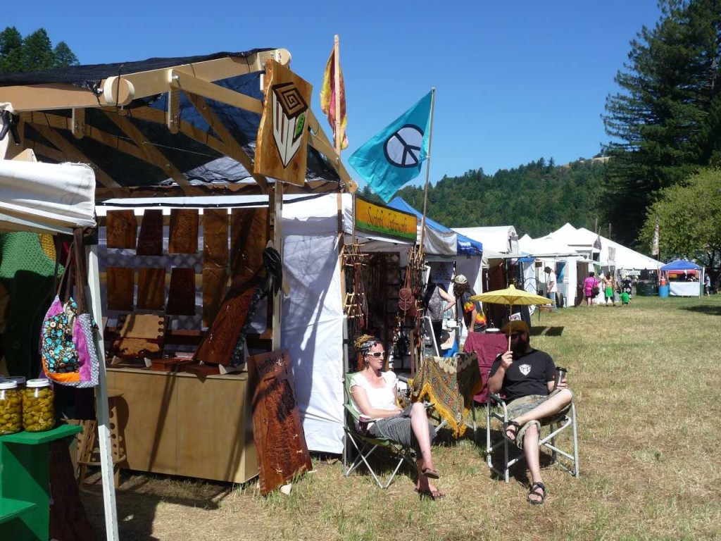 Unique Wooden Craft Fair Booth