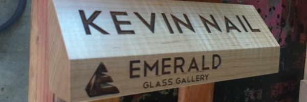 WoodLab Designs Glass Gallery Artist Name Signage