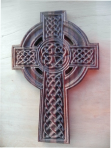 Wooden Celtic Cross Wall Mounted Art