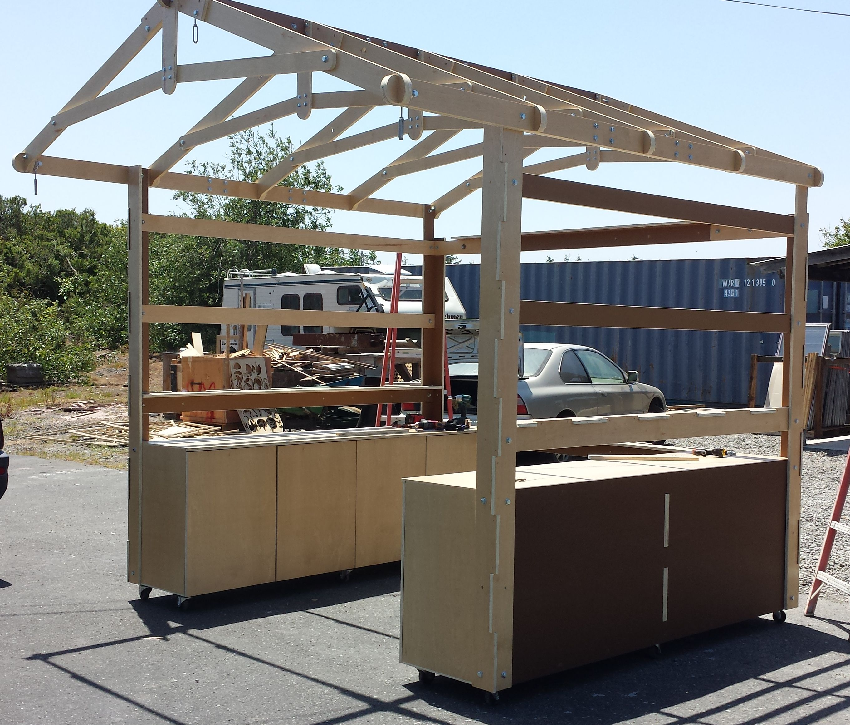 Bolt Together Wooden Craft Fair Booth Construction