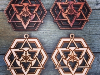 WoodLab Designs Rosewood & Baltic Birch Aloha Humboldt Cannabis Farm Earring Components