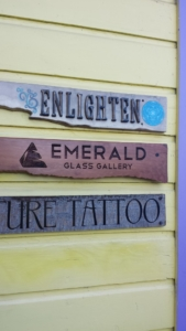 Redwood Laser Etched Gallery Signage