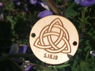 WoodLab Designs Tokens of Love Custom Wedding Favor made from Laser Etched Baltic Birch Plywood