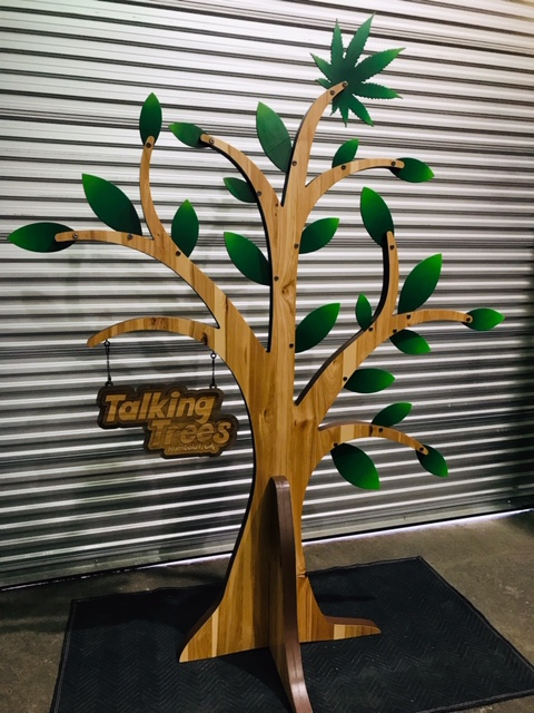 WoodLab Designs Custom Display Talking Trees Farms 8ft Trade Show Booth Centerpiece