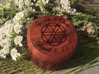 WoodLab Designs Customized Laser Etched Engagement Ring Box