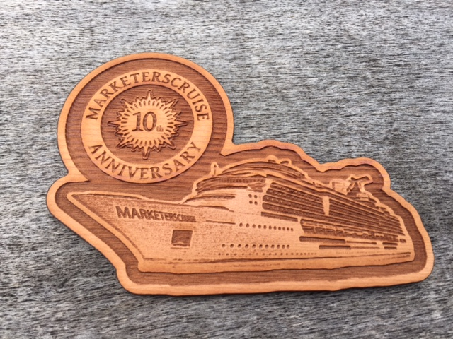 Commemorative Cruise Ship Custom Wood Magnet