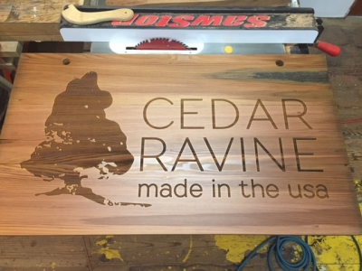 WoodLab Designs Cedar Ravine Clothing & Accessories Trade show Booth Signage