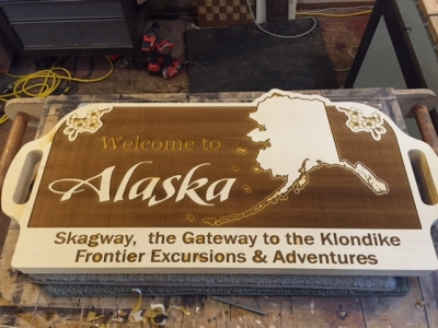 WoodLab Designs Frontier Excursions Alaskan Adventures Wooden Signage