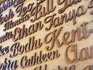 WoodLab Designs Wooden Wedding Seating Arrangement Name Place Holders