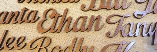 Wedding Guest Wooden Name Place Holders