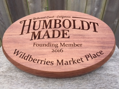 WoodLab Designs Humboldt Made Redwood Laser Etched Signage