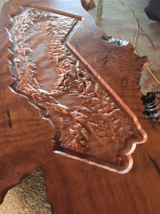 Live Edge Custom California Redwood Art