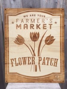 Farmer's Market Flower Patch Sign