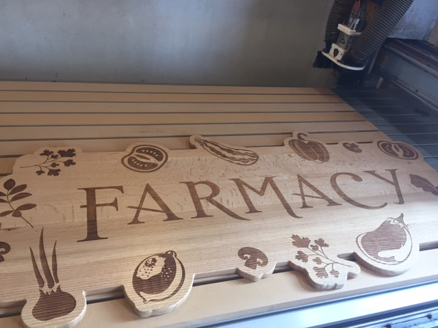 WoodLab Designs River Song Natural Foods Farmacy Department Wooden Sign
