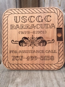 WoodLab Designs Laser Etched Coast Guard information sign