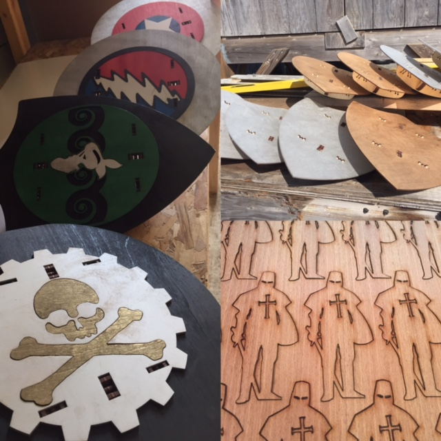 WoodLab Designs Renaissance Wooden Shields