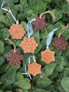 WoodLab Designs Snowflake Christmas Holiday Cookie Ornaments