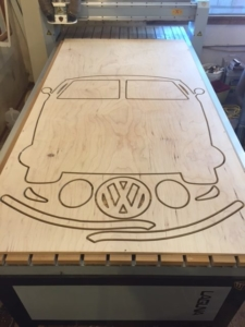 WoodLab Designs VW Bus Cutout Stand Alone Sign