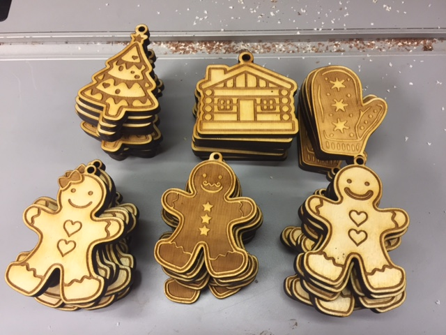 WoodLab Designs Wooden Holiday Ornaments