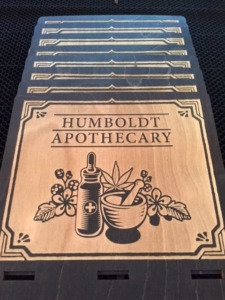 WoodLab Designs Humboldt Apothecary Display Signs