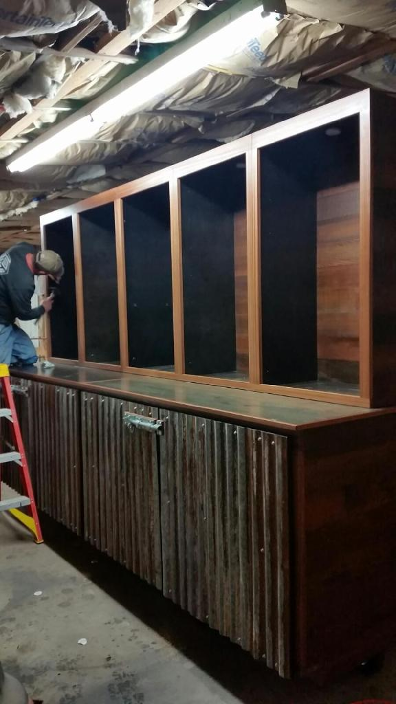 WoodLab Designs Redwood Roots Trade show Booth in progress
