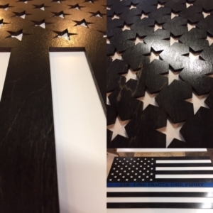 WoodLab Designs Custom Police Academy American Flag Wooden Sign
