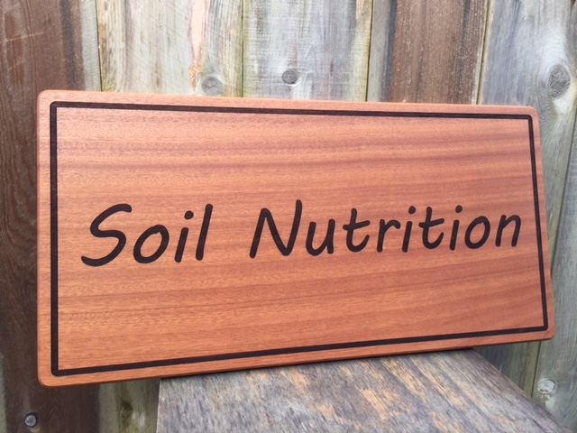 WoodLab Designs Soilscape Solutions Soil Nutrition Retail Sign