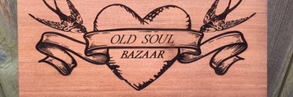 WoodLab Designs Redwood Prototype Signage for Old Soul Bazaar Gallery