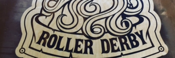 WoodLab Designs Baltic Birch Laser Etched Roller Derby Founders Sign