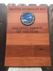 WoodLab Designs Laser Etched & CNC Routed US Coast Guard Award Plaque