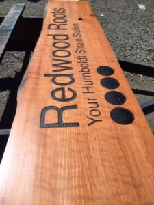 WoodLab Designs Redwood Roots CNC Routed, Torch Burned, Custom Redwood Sign
