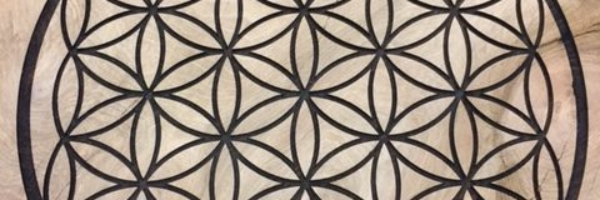WoodLab Designs Seed of Life Sacred Geometry Laser Etching