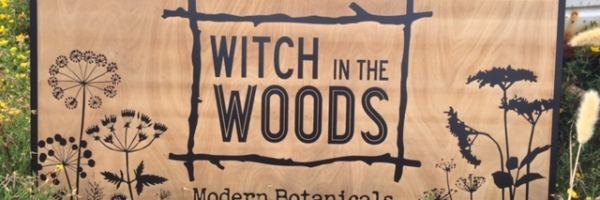 WoodLab Designs Witch in the Woods Custom Trade Show Booth Laser Etched Sign