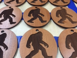 WoodLab Designs Redwood Bigfoot Wedding Favor Ornaments