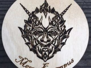 WoodLab Designs Merry Krampus Christmas Laser Etched Ornament