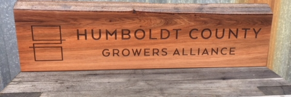 WoodLab Designs Humboldt County Growers Alliance Salvaged Redwood Signage