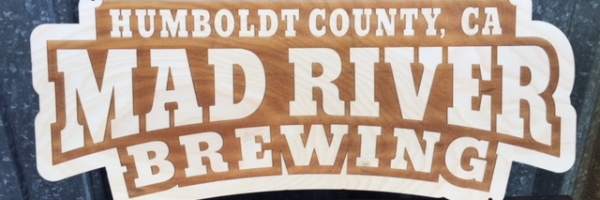WoodLab Designs Mad River Brewing Wood Tacker Man Cave Craft Brew Birch Sign