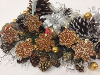 WoodLab Designs Laser Etched Baltic Birch Plywood Winter Solstice Christmas Snowflake Ornaments