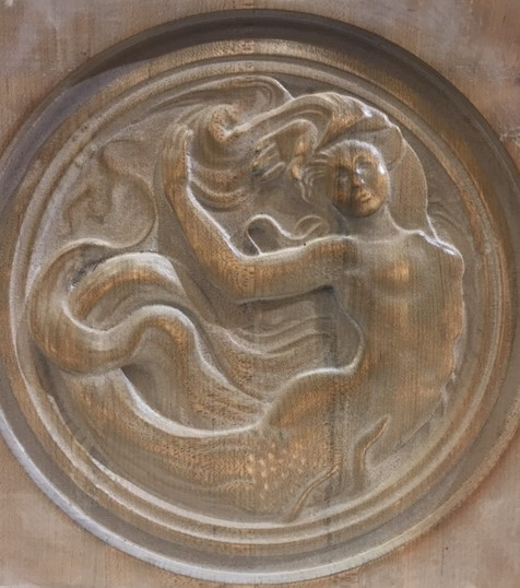 WoodLab Designs Maple Wood CNC Carved Ocean Siren Mermaid Woman