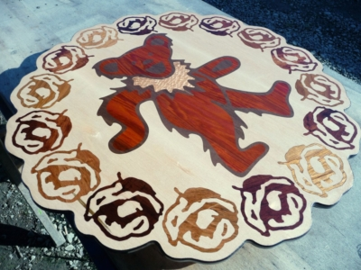 Jerry Garcia Dancing Bear Wood Inlay Art